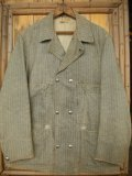 1930'S〜 W BUTTONS FRONT HBT PRINT DUCK COVERALL