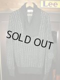 1950'S BERLIN'S BLACK SHAWL COLLAR SWEATER SIZE/L