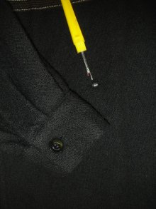 他の写真3: 1950'S McGREGOR BLACK WOOL BORDER SHIRT  SZ/S
