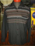 画像3: 1950'S McGREGOR BLACK WOOL BORDER SHIRT  SZ/S (3)