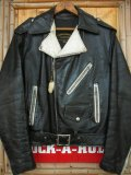 1960'S GREGORY & MARK LEATHER TWO TONE MOTORCYCLE JACKET SZ/40