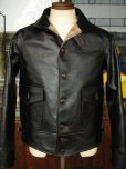画像1: HIMEL BROTHERS LEATHER HERON 1929/BLACK HORSEHIDE/BUTTON FRONT   (1)