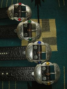 "他の写真2: RAWHIDE STUDDED & JEWELED BELT LOT-213/ 1-1/2""[38MM]"