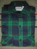 1970'S〜 DEADSTOCK FIVE BROTHER HEAVY FLANNEL SHIRT GREEN/SZ/M
