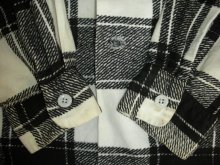 他の写真3: 1950'S COOPERS WHITE X BLACK PLAID PRINTED FLANNEL SHIRT SZ/L