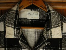 他の写真2: 1950'S COOPERS WHITE X BLACK PLAID PRINTED FLANNEL SHIRT SZ/L