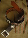 "RAWHIDE STUDDED & JEWELED BELT LOT-116/ 1-3/4""[44MM]"