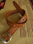 "画像2: RAWHIDE STUDDED & JEWELED BELT LOT-201/ 1-1/2""[38MM]  (2)"