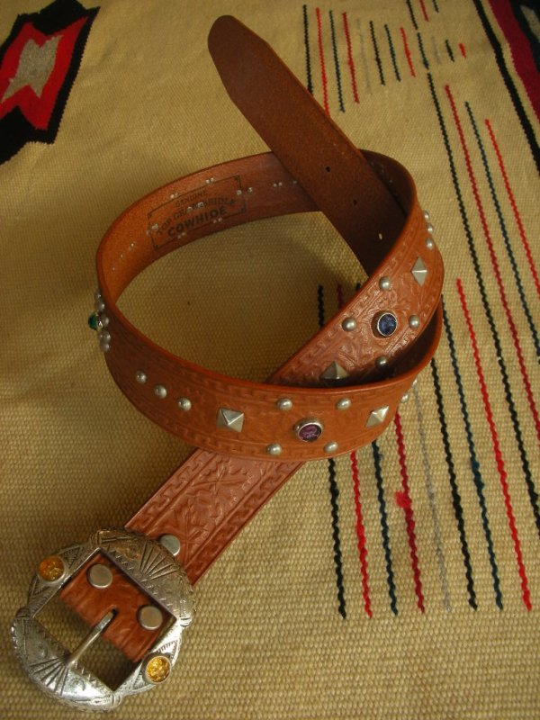 "画像2: RAWHIDE STUDDED & JEWELED BELT LOT-201/ 1-1/2""[38MM]"