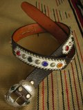 "RAWHIDE STUDDED & JEWELED BELT LOT-212/ 1-1/2""[38MM]"