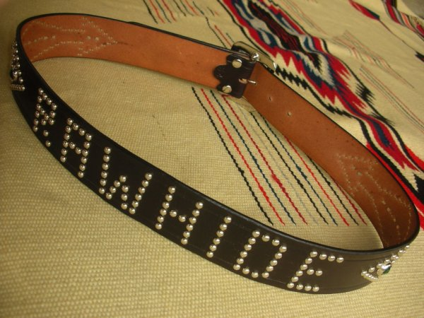 "画像5: RAWHIDE STUDDED & JEWELED BELT LOT-134/ 1-3/4""[44MM]"