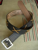 "RAWHIDE THE WILD ONE JOHNNY 乱暴者マーロンブランド LACE BELT LOT-100/ 1-3/4""[44MM]"