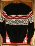 画像8: 1950'S ROBIN HOOD SNOWFLAKE BORDER BLACK JAQUARD KNIT SWEATER