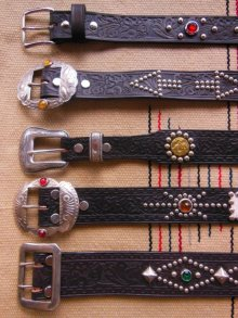 "他の写真2: RAWHIDE STUDDED & JEWELED BELT LOT-643/ 1-1/4""[32MM]"