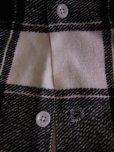 画像6: 1950'S COOPERS WHITE X BLACK PLAID PRINTED FLANNEL SHIRT SZ/L