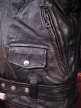 画像13: 1950'S EDGO STEERHIDE W MOTORCYCLE JACKET SZ/40