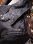 画像10: 1950'S EDGO STEERHIDE W MOTORCYCLE JACKET SZ/40