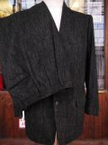1950'S UNDER-GRAD Clothes PINK FLECK BLACK WOOL SUIT SZ/38/31X29