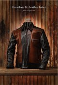 Attractions Lot.377 HORSEHAIR LL LEATHER JACKET BLACK-BROWN