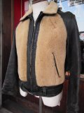 1930'S J.C. PENNEY HORSEHIDE GRIZZLY JACKET/SIZE38~40