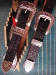 "画像8: RAWHIDE STUDDED & JEWELED BELT LOT-412/ 1-1/2""[38MM]"