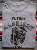 1960'S DEADSTOCK ALBRIGHT LIONS FLOCKY PRINTED TEE/SMALL