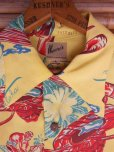 画像5: 1940'SMOORE'S HULA GIRL PRINTED RAYON HAWAIIAN SHIRT SZ/L