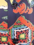 画像8: 1940'S PENNEY'S DARK NAVY RAYON HAWAIIAN SHIRT SZ/M (8)