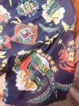 画像13: 1940'S PENNEY'S DARK NAVY RAYON HAWAIIAN SHIRT SZ/M (13)