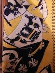 画像9: 1940'S ROYAL PALM NAVY X YELLOW BODER RAYON SHIRT SZ/M