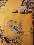 画像6: 1940'S HAWAIIAN PRINTS YELLOW RAYON HAWAIIAN SHIRT SZ/S