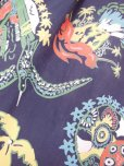 画像14: 1940'S PENNEY'S DARK NAVY RAYON HAWAIIAN SHIRT SZ/M