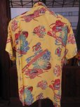 画像3: 1940'SMOORE'S HULA GIRL PRINTED RAYON HAWAIIAN SHIRT SZ/L