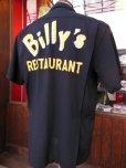 画像6: 1950'S BILLY'S RESTAURANT EMBROIDERED BLACK RAYON BOWLING SHIRT SZ/M