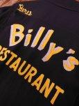 画像12: 1950'S BILLY'S RESTAURANT EMBROIDERED BLACK RAYON BOWLING SHIRT SZ/M