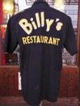 画像5: 1950'S BILLY'S RESTAURANT EMBROIDERED BLACK RAYON BOWLING SHIRT SZ/M