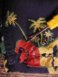 画像16: 1940'S PENNEY'S DARK NAVY RAYON HAWAIIAN SHIRT SZ/M (16)