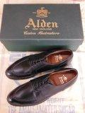 新品 ALDEN オールデンコードバン Vチップ 961 ブラック/8.5B