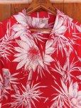 画像10: 〜1950'S CATARINA BAMBOO FLOWER PRINTED RAYON HAWAIIAN PULLOVER SHIRT/M