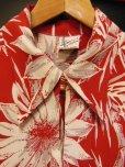 画像5: 〜1950'S CATARINA BAMBOO FLOWER PRINTED RAYON HAWAIIAN PULLOVER SHIRT/M