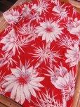 画像19: 〜1950'S CATARINA BAMBOO FLOWER PRINTED RAYON HAWAIIAN PULLOVER SHIRT/M