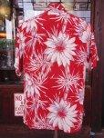 画像3: 〜1950'S CATARINA BAMBOO FLOWER PRINTED RAYON HAWAIIAN PULLOVER SHIRT/M