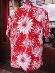 画像4: 〜1950'S CATARINA BAMBOO FLOWER PRINTED RAYON HAWAIIAN PULLOVER SHIRT/M
