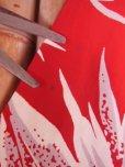 画像15: 〜1950'S CATARINA BAMBOO FLOWER PRINTED RAYON HAWAIIAN PULLOVER SHIRT/M