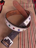"RAWHIDE STUDDED & JEWELED BELT LOT-140/ 1-3/4""[44MM]"
