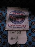 画像3: 1950'S DEADSTOCK BARTEL BOYS PRINTED FLANNEL SHIRT /SIZE14
