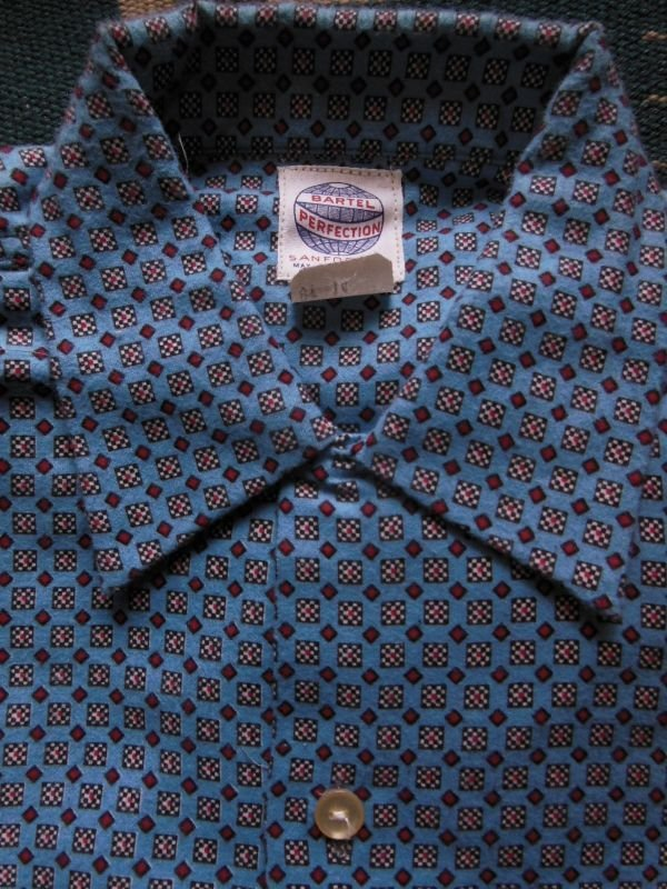 画像2: 1950'S DEADSTOCK BARTEL BOYS PRINTED FLANNEL SHIRT /SIZE14