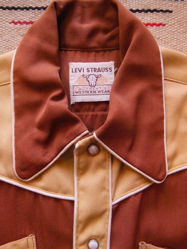 画像1: 1950'S DEADSTOCK  LEVI'S SHORTHORN BOYS WESTERN SHIRT