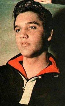 他の写真1: 1950'S PURITAN BLACK X RED COLLAR ELVIS PRESLEY STYLE KNIT PULLOVER