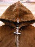 画像3: 1960'S MIGTHY-MAC BROWN COTDUROY HOODED COAT SIZE/6